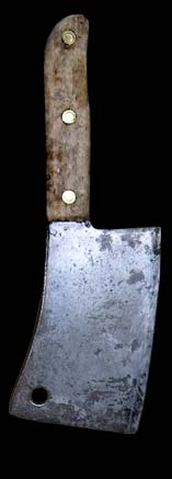 Bloody butchers knife