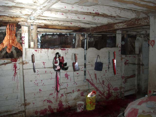 Killing area in the barn.